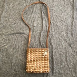 Nine West Woven Satchel Purse